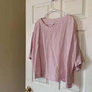 j. jill Pink Linen Oversized Top-- Size M